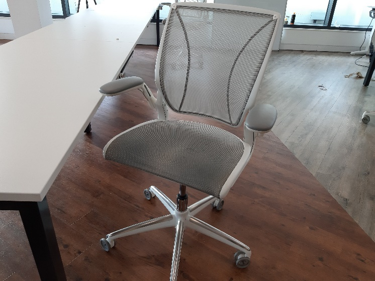 An image of an office swivel chair.