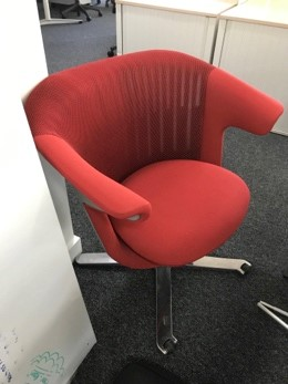 i2i red upholstered swivel chairs