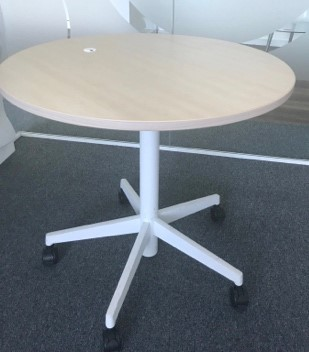 Steelcase height adjustable maple top meeting