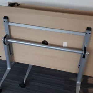 Folding table with cable hole – medium - 160x80x72