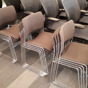 Silver Frame Stacking Chair