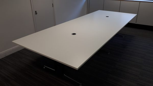 White Meeting Room Table