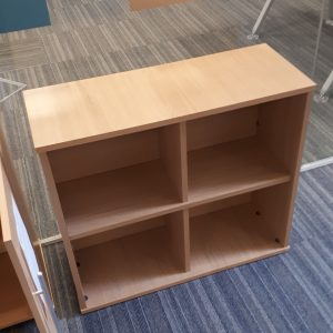 Small beech shelving unit - 80x32x72