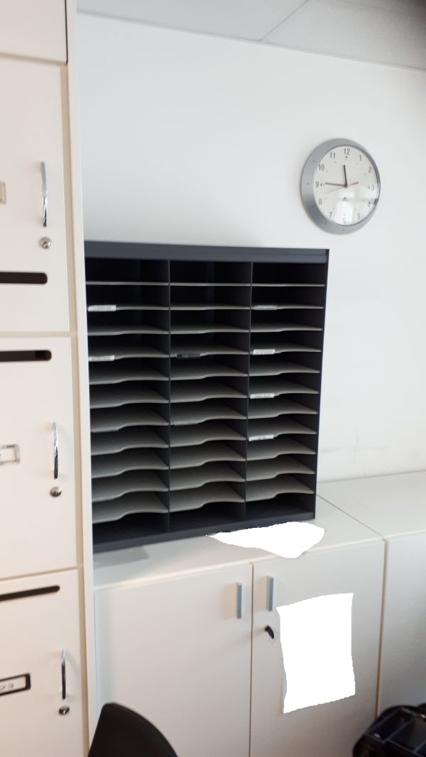 Pigeonhole unit - 67x30x78 – one wooden one plastic (pictured)